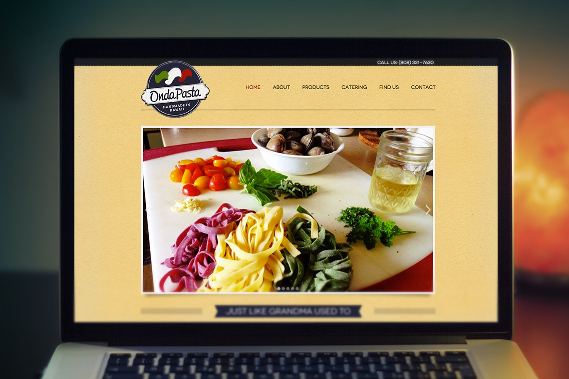 onda-pasta-website-screenshot
